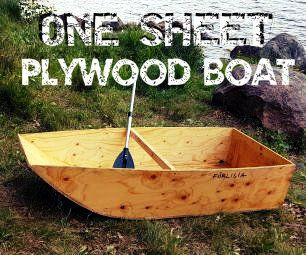 One Sheet Plywood Boat Woodworking Techniques Woodworking Projects Plywood Boat