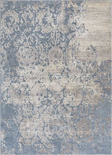Well Woven Forte Blue Microfiber High Low Pile Vintage Abstract Erased Floral 8x10 7 10 X 9 10 Area Rug Modern Modern Rugs Modern Area Rugs Blue Area Rugs