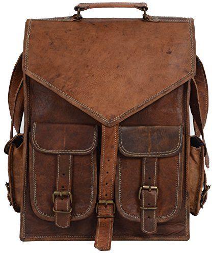 a9bbf2deec INDOCRAFT 15 Mens Vintage Leather Laptop Backpack Shoulder Messenger Bag  Rucksack Sling for 2 in 1 purpose -- Read more reviews of the product by  visiting ...