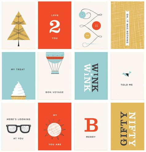 Danielle Kroll, Designer: A set of gift cards for Anthropologie customers during the 2011 holiday season.