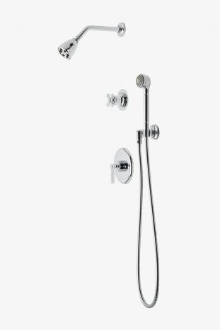 Transit Pressure Balance Shower Package With 2 3 4 Head Handshower And Diverter Cross Handle In 2020 Hand Shower Shower Luxury Packaging