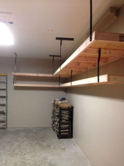 44 Clever Ideas To Organize Your Garage Overhead Garage Storage Garage Storage Organization Diy Garage