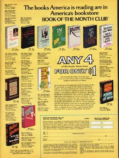 Image result for book of the month club book magazine advert