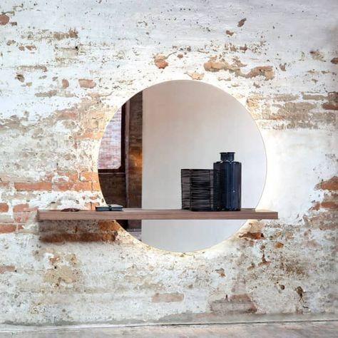 Tonin Casa SUNSET T7501 Konsole mit Spiegel - Design Angelo Tomaiuolo - empor.de