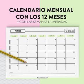 Diseño Y Desarrollo De Apps Diseño Y Desarrollo Web Valencia Organizadores Mensuales Calendarios Mensuales Planificador Mensual Imprimible