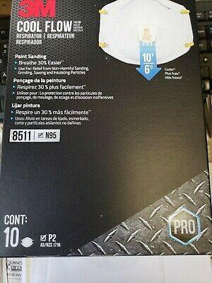 3m pro paint sanding vented respirators 8511 10 masks n95
