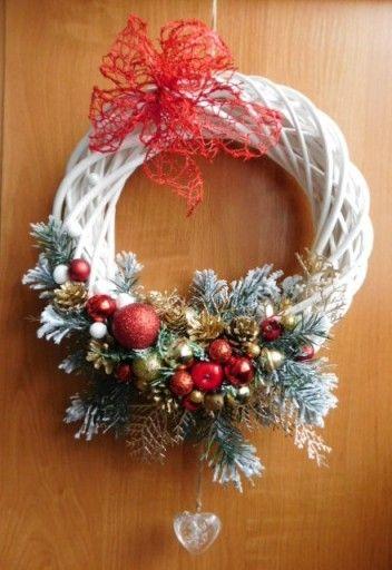 Piekny Wianek Na Drzwi Stroik Boze Narodzenie 7680804772 Oficjalne Archiwum Allegro Christmas Wreaths To Make Christmas Wreaths Christmas Decorations