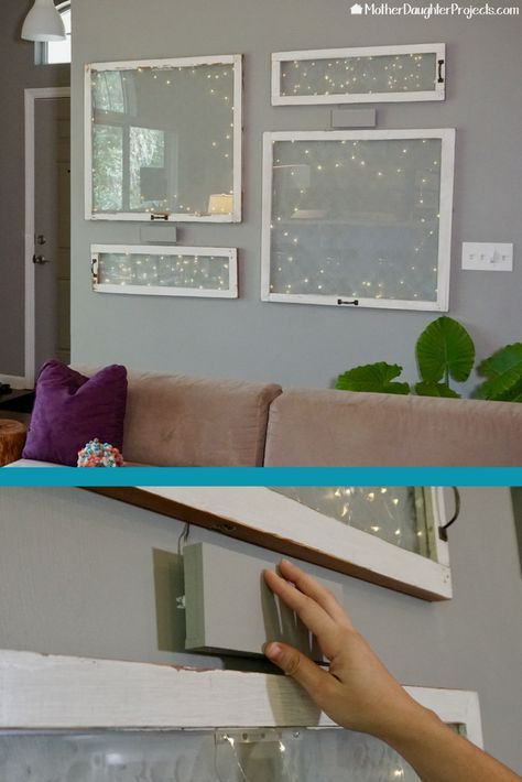How To Hang Old Windows For Wall Display Old Window Decor Old Windows Repurposed Windows
