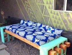 Diy Cinder Block Outdoor Bench Moveis Casas Jardim