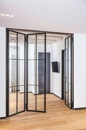 Stahl Glas Tur Verriere Interieure Coulissante Design Moderne