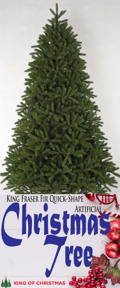 6 5 Foot King Fraser Fir Quick Shape Artificial Christmas Tree