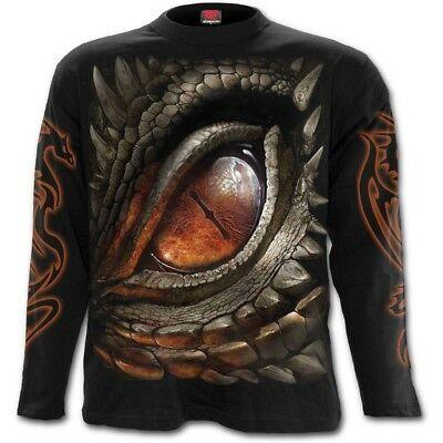 SPIRAL DIRECT DRAGON EYE Long Sleeve T-Shirt//Dragon//Biker//Tribal//Tattoo//Wild//Top