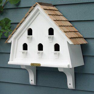Glitzhome Hanging Wooden Garden 12 In X 5 In X 4 In Birdhouse Wayfair In 2020 Bird Houses Bird House Diy Bird Feeder