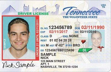 Tennessee Driver S License Novelty Drivers License Death