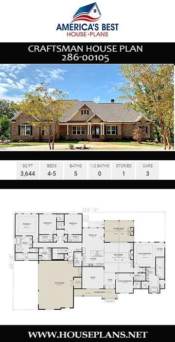 Handwerkerhaus Plan 286 00105 Handwerkerhaus Plan Craftsman Floor Plans Craftsman House Plan One Floor House Plans