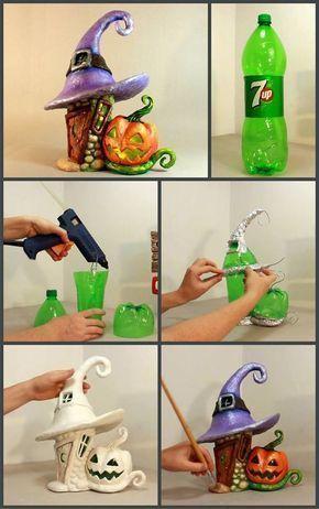 Melhores 12 casas de fadas de garrafas. #DIY YouTube Video (em espanhol  Habilidade