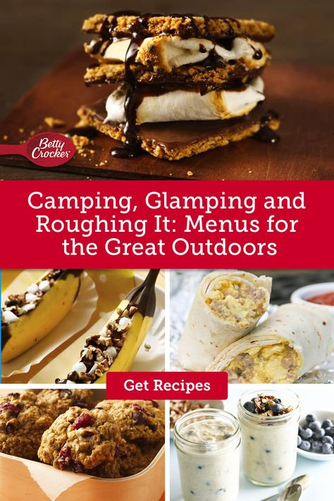 Our Camping, Glamping and Roughing It: Menus for the Great Outdoors matches your plans with a mouthwatering menu. Pin this today for standout meals.