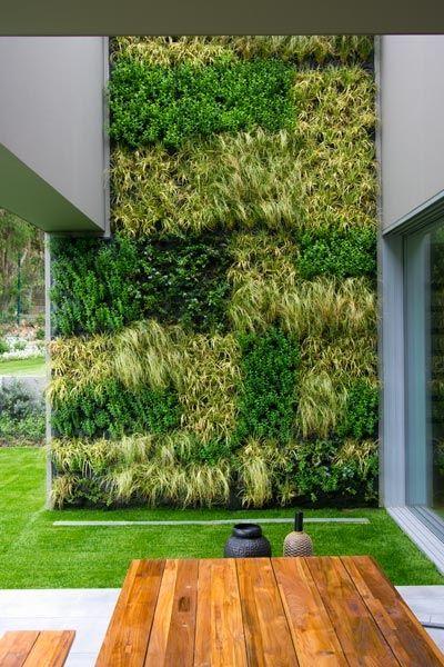 A flip on the yard. Loving this vertical garden.  #outdoorroom #verticalgardens