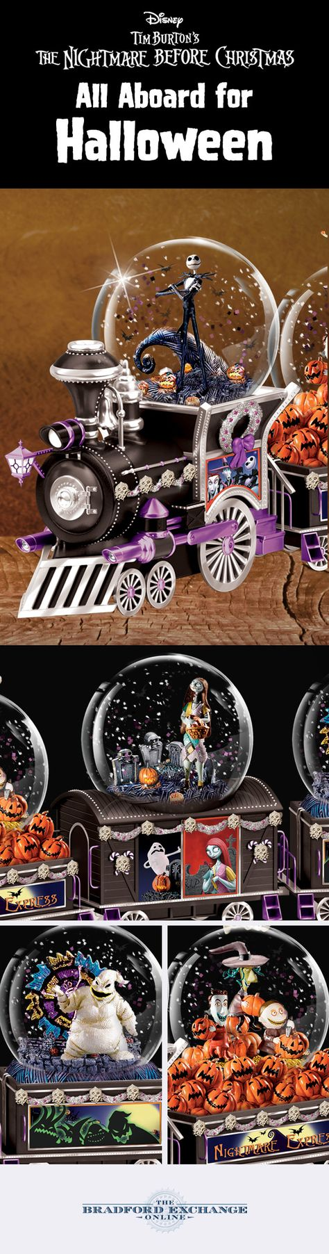 The Nightmare Before Christmas Musical Glitter Globe Train Nightmare Before Christmas Nightmare Before Christmas Musical Christmas Snow Globes