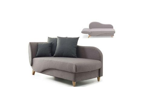 Recamiere Schlafsofa Longchair Stoff Nyx Taupe Livingroom
