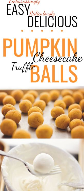 Craving a pumpkin treat? Need an easy and impressive dish for a get-together? I have had huge success with these embarrassingly easy Pumpkin Cheesecake Truffle Balls.