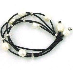 d1920314b550 Pulseras de cuero y perlas cultivadas - Mayoristas bisuteria