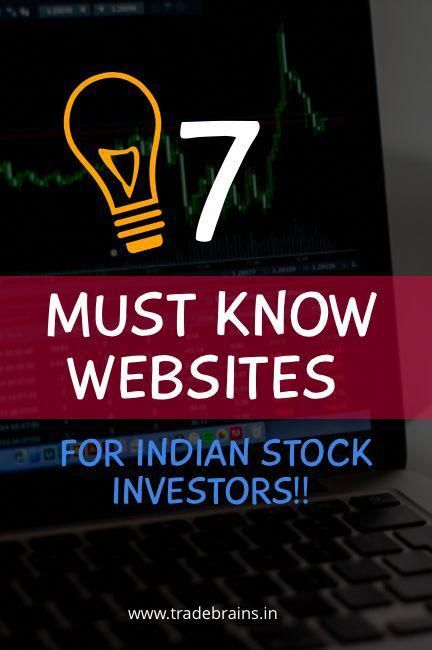 7 Must Know Websites For Indian Stock Market Investors Stock