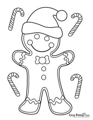 Christmas Coloring Sheets Easy Portraits