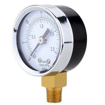 0 30psi 0 2bar Air Compressor Gauge 2 Face Side Mount 14 Npt Hydraulic Compressed Air Pressure Gauge Tester Measurer
