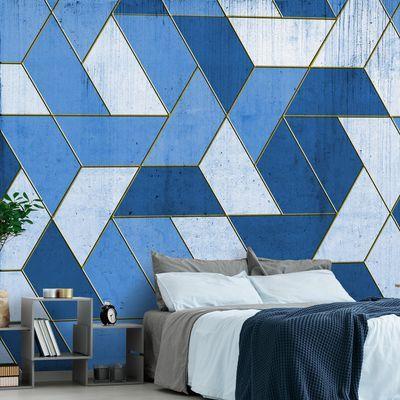 Geometry In Heaven Wall Mural From Wall81 3 Royal Blue Walls Heaven Wallpaper Wall Covering