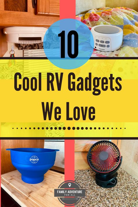 What are the little must-have items that you'll need in your RV. For us, they're not what you might expect! Read this article to see a list of our top 10 cool RV gadgets. Cool Camping Gadgets, Cool New Gadgets, Dog Gadgets, Rv Camping Tips, Amazon Gadgets, Future Gadgets, Clever Gadgets, High Tech Gadgets, Geek Gadgets