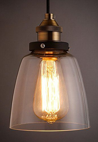 Culver Led Barn House Lighting Pendant Glass Hanging Light Edison Vintage Style Hanging Lampshade Kitc Glass Pendant Lamp Wall Lamp Shades Pendant Lamp Shade