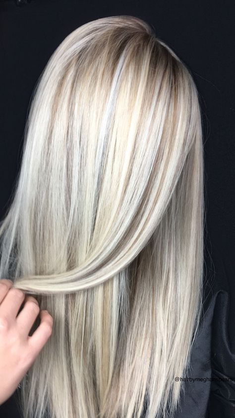 Platinum Blonde Highlights with Lowlights