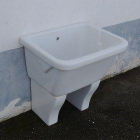 Lavatoio Da Esterno Ceramica.Vasca Lavatoio Marna Con Muriccioli D Appoggio 75x60 Bagno