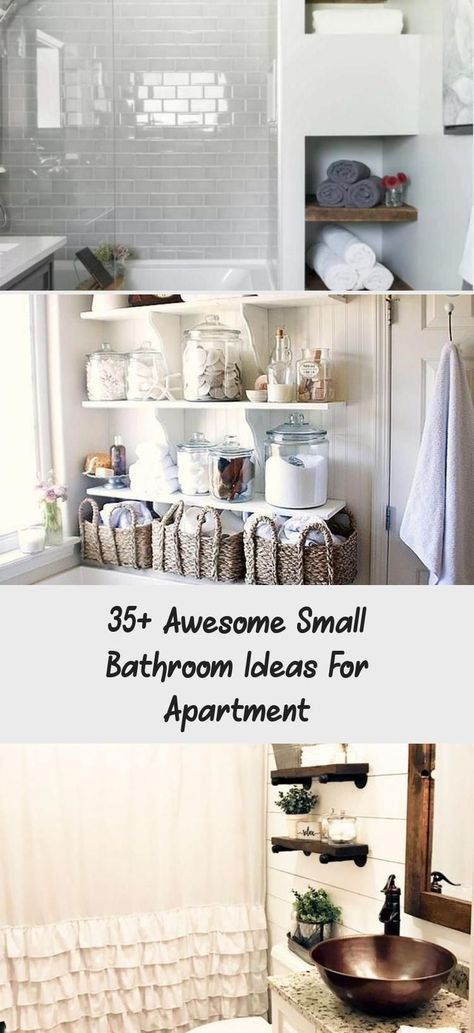 35+ Awesome Small Bathroom Ideas For Apartment - Decor,  #Apartment #Awesome #Bathroom #Decor #diybathroomdecormermaid #ideas #Small
