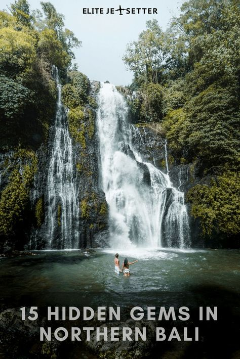 Things to do in North Bali. Waterfalls in Bali. Places to see in Northern Bali. Best waterfalls in Bali. Hot springs in Bali, Things to do in Indonesia, waterfalls in Indonesia. exploring bali. Bali photography. #bali #baliwaterfalls #travelinbali #beautiful #waterfall #landscape #hidden gems Bali hidden gems via @elitejetsetters