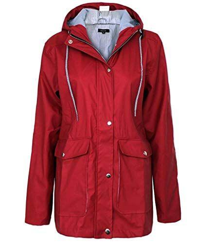 PXiong Women Winter Windproof Down Jacket Zipper Long Sleeve Hooded Outdoor Coat