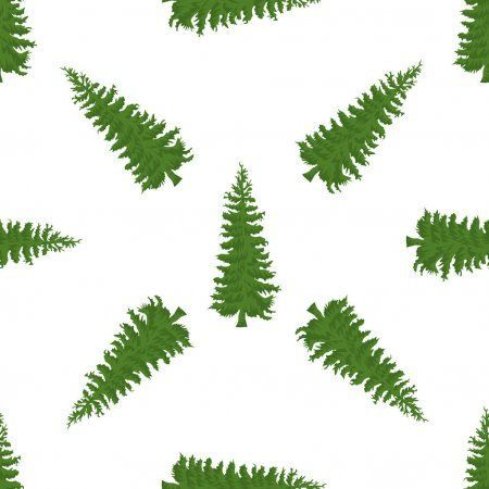 Christmas Tree Seamless Pattern High Detailed Fir Tree Texture Vector Illustra Christmas Detailed Fir In 2020 Tree Textures Christmas Tree Silhouette Fir Tree