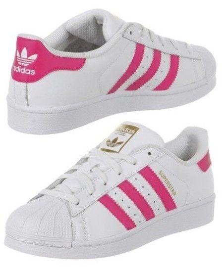 Adidas Superstar Feminino Branco Pink Tenis Adidas Branco