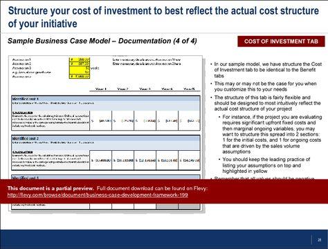 Business+Case+Development+Framework Business Case Template - it project business case template