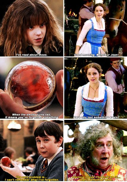 Harry Potter Beauty And The Beast I Noticed This When I Watched The Trailer And I So G Harry Potter Memes Hilarious Harry Potter Puns Harry Potter Characters