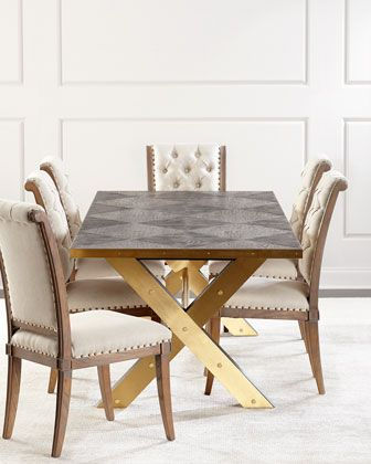 Shamir Dining Table Home Tufted Dining Chairs Dining Chairs