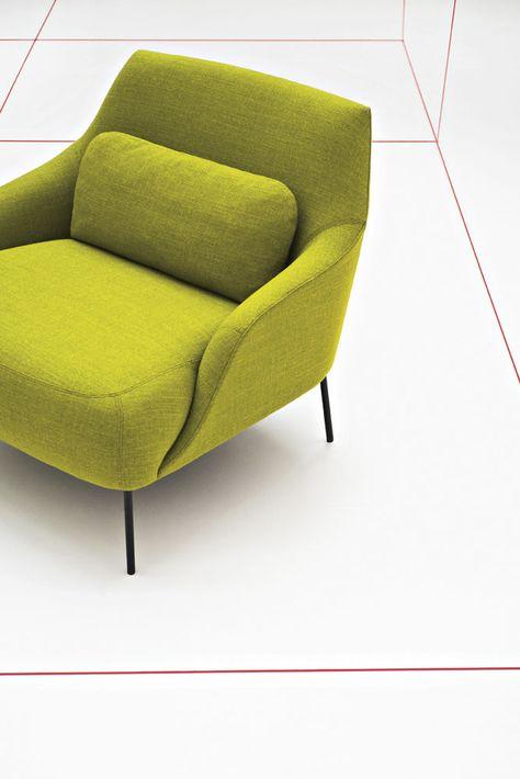 Moderner Sessel - LIMA by Claesson Koivisto Rune - Tacchini Grün