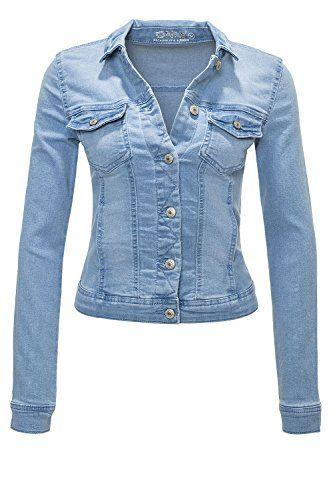 online store 697f4 b8152 Only Damen Jeansjacke Übergangsjacke Leichte Jacke (M ...