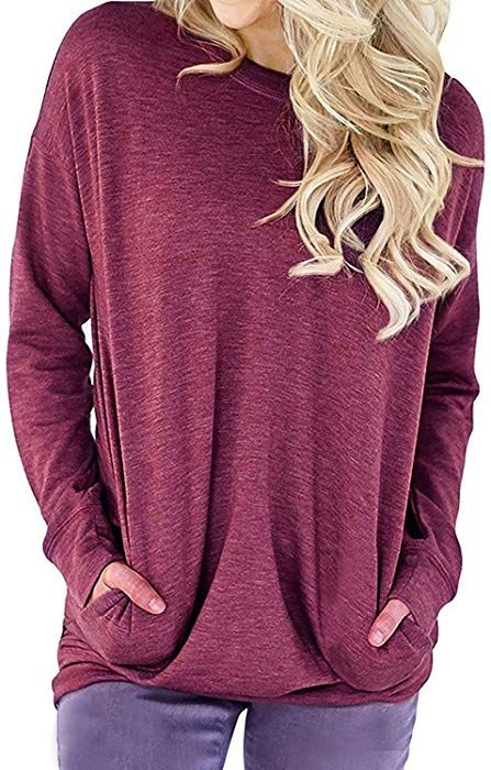 LYXIOF Womens Casual Short Sleeve Tunic Tops Round Neck Shirts Loose Button Blouse