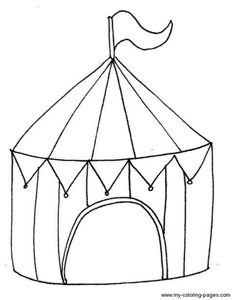 Circus Tent Coloring Page Thema Zirkus Zirkus Geburtstag Und Zirkus