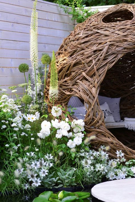 Un jardin de fleurs blanches | Jardins, Fleur jardin et ...