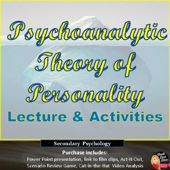 Personality Psychoanalytic Theory Lecture Activities Print And Digital Assessment For Learning Education Inspiration Theories Of Personality