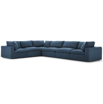 Commix Collection Eei 3361 Azu 6 Pc Sectional Sofa Set With Down