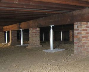 Sagging Crawl Space Repair in Knoxville, Johnson City, Tennessee